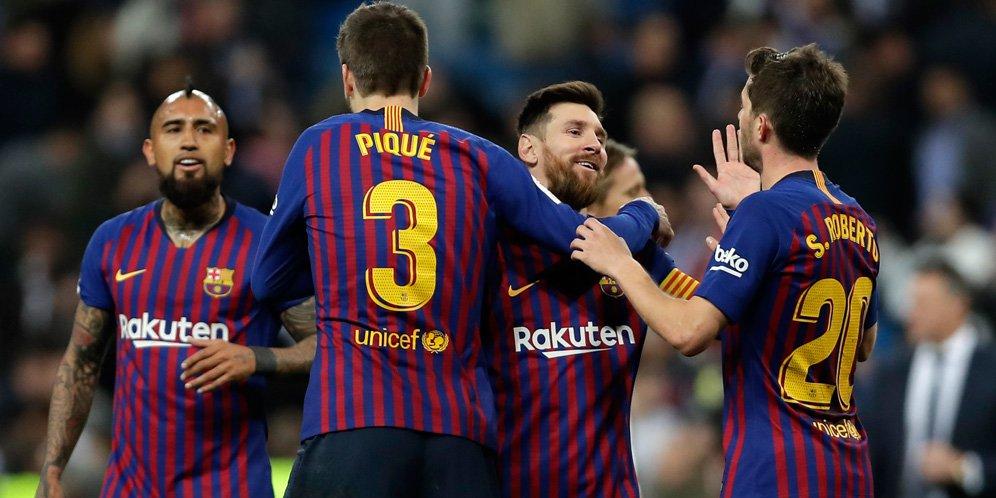 Barcelona memenangkan pertandingan puncak melawan Atletico