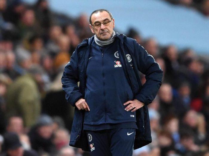 Pelatih Chelsea Sarri sangat kesal dengan final Liga Eropa